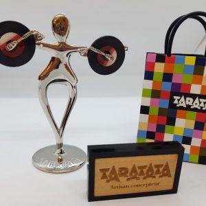 Boucles d'oreilles TARATATA tourne disque
