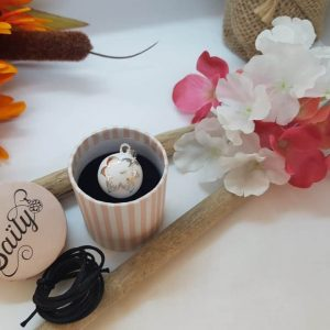 Bola SAILY fleur d'hibiscus blanc