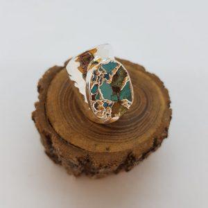 Bague HYPNOCHIC argenté Turquoise