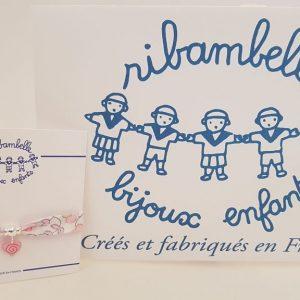 Bracelet enfant ruban liberty RIBAMBELLE