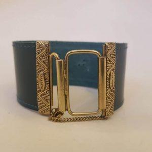 Bracelet cuir et métal bronze TARATATA