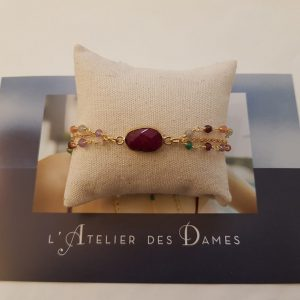 Bracelet double et pierres fines L'Atelier des Dames
