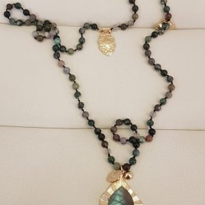 Sautoir perles et pierres natuelles BLOW Bijoux