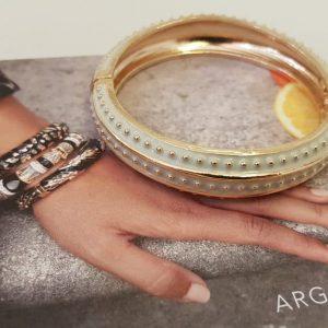 Bracelet ARGELOUSE Bordeaux, Blanc