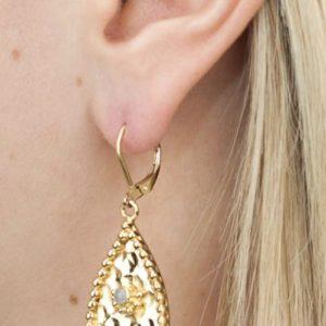 Boucles d'oreilles médaillons ovales L'Atelier des Dames
