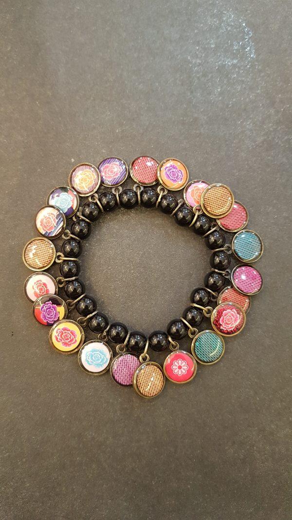 Bracelet LITCHI noir
