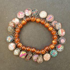 Bracelet LITCHI Multi-médailles couleur CUIVRE