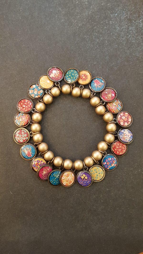 Bracelet LITCHI Multi-Médailles