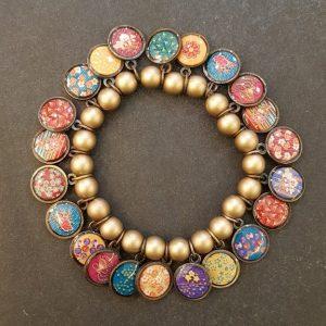 Bracelet LITCHI Multi-Médailles couleur CHAMPAGNE