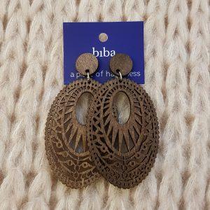 Boucles d'oreilles bois BIBA