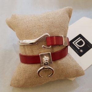 Bracelet cuir Ligne D