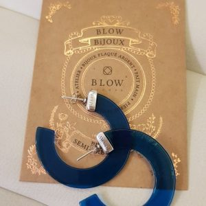 "Créoles "" SIMONETA "" BLOW Bijoux BLEU"