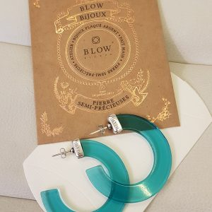Créoles » SIMONETA » BLOW Bijoux Turquoise