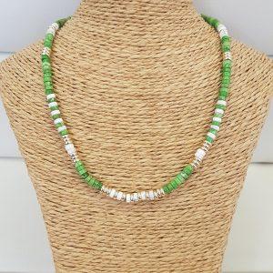 Collier ANARTXY Vert / Blanc