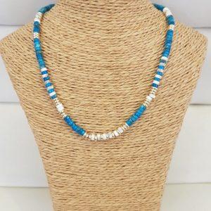 Collier ANARTXY Bleu / Blanc