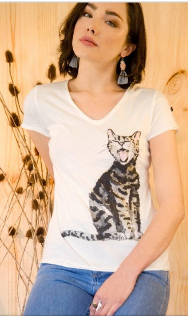 T-shirt CHAT NACH BIJOUX