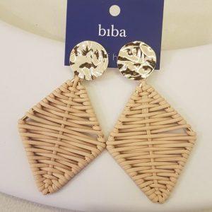 Boucles d'oreilles BIBA beige