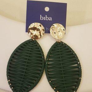 Boucles d'oreilles BIBA vert