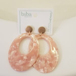 Boucles d'oreilles BIBA rose poudrée