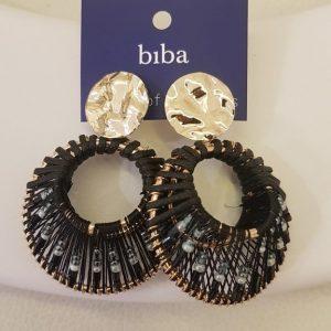 Boucles d'oreilles BIBA Noir