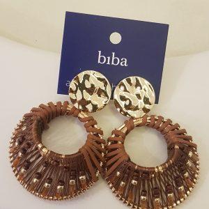 Boucles d'oreilles BIBA marron