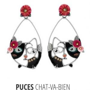 Boucles d'oreilles TARATATA Collection CHAT VA BIEN